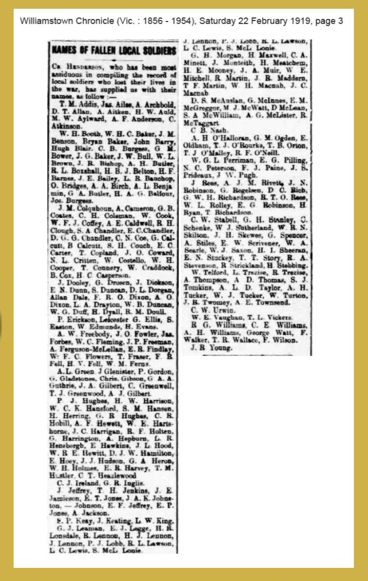 1919 list